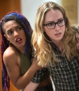 TV STILL -- DO NOT PURGE -- Freema Andrews and Jamie Clayton in a scene from Netflix's